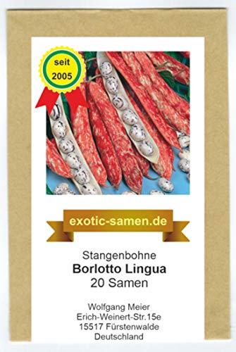 Stangenbohne - Borlotto Lingua Di Fuoc - 20 Samen