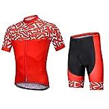 LGQ Herren Radtrikot Set Sommer Quick-Dry Breathable Hemd mit 9D Padded Pants Biking Short Sleeve Set für Cross Country Mountainbike Jersey,S