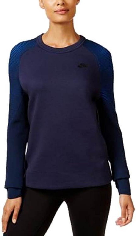 Nike Women's Tech Fleece Crew Sweatshirt Obsidian Black