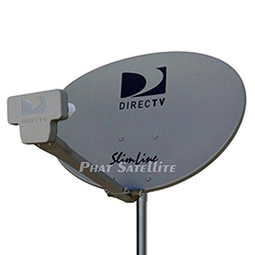 New - Complete KIT: Directv HD Satellite Dish w/Digital SWM3 DSWM3 LNB 20 Tuners + RG6 COAXIAL Cables Included Ka/ku Slim Line Dish Antenna SL3 Single Output W/ 4 Port Splitter