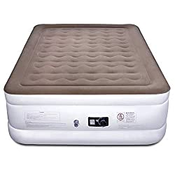 "Etekcity Air Mattress with Built-in Pump, Queen Inflatable Mattress Blow Up Air Bed Double Raised Mattress for Camping, Guest, Hiking, Height 22"", 2-Year Warranty"