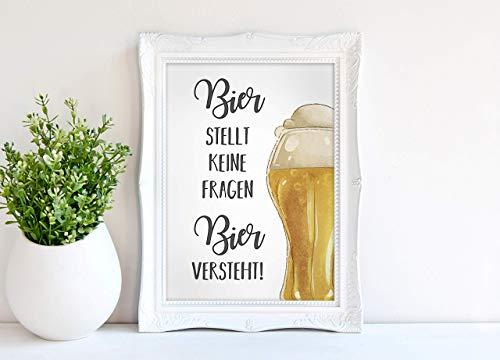 Kunstdruck - Bier B - DIN A3, DIN A4 - Geschenk, Deko, Mann, Männersache