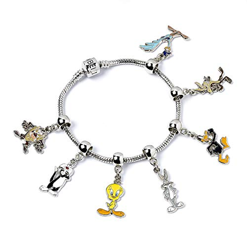 LOONEY TUNES Offizielles Harry Potter Versilbertes Slider Bettelarmband