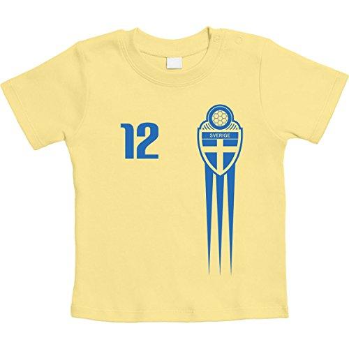 Sverige Sverige fotbollsfanartikel för spädbarn EM unisex baby t-shirt