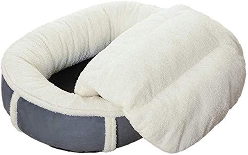 IUYJVR Cama para Mascotas La Cama para Perros en Invierno está Hecha de algodón Perlado, Perrera Desmontable y Lavable de Forma Ovalada, Nido de Perro en Forma de Calabaza, XL / 120 × 90cm (Tamaño: