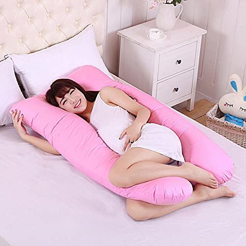 100% Tela de algodón Anti y Anti alergia, Almohada Suave de Calidad de Hotel para Espalda y estómago, Elegante Polvo_Un código 75 * 130