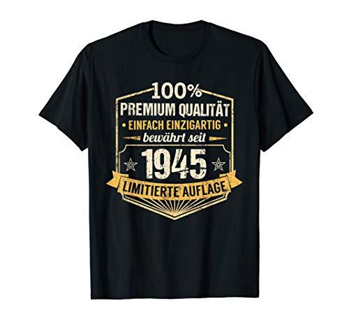 75. Geburtstag Jahrgang 1945 Mann Frau Einzigartig Geschenk T-Shirt