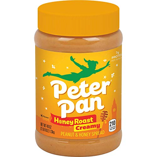 Peter Pan Honey Roast Creamy Peanut and Natural Honey Spread 40Ounce Pack of 2