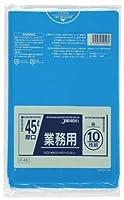 ジャパックス 業務用ポリ袋 45L P-46 0.040mm 青 10枚×40冊入