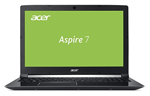 Acer Aspire 7 (A715-72G-704Q) 39,6 cm (15,6 Zoll Full-HD IPS matt) Multimedia/Gaming Laptop (Intel Core i7-8750H, 8GB RAM, 256GB PCIe SSD + 1.000GB HDD, NVIDIA GeForce GTX 1050Ti, Win 10) schwarz