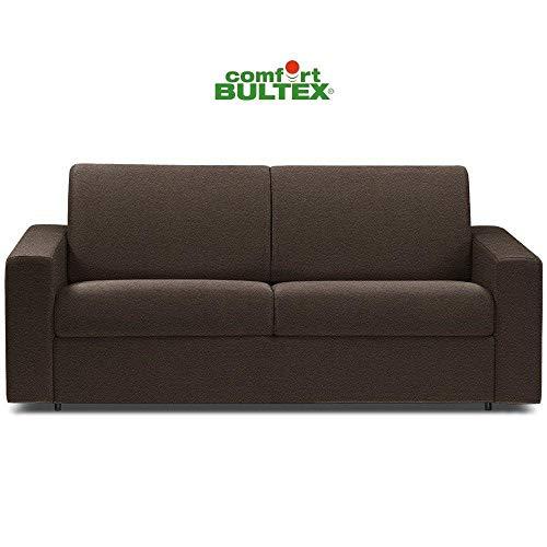 Canapé Convertible rapido CRÉPUSCULE Matelas 140cm Comfort BULTEX® Simili PUmarron