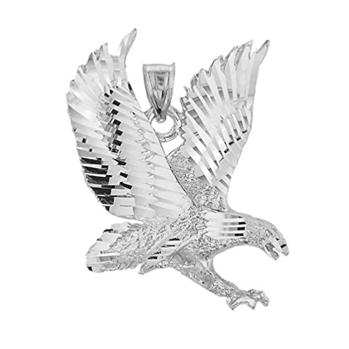 Animal Kingdom Polished 925 Sterling Silver American Eagle Charm Pendant