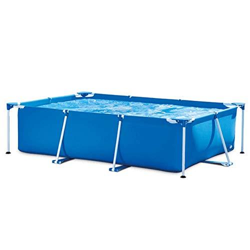 ZEH MAX Piscina sobre Suelo rectángulo Metal Marco Piscina Jardín de Verano Niños Pool Pool, para 1-6 Personas FACAI