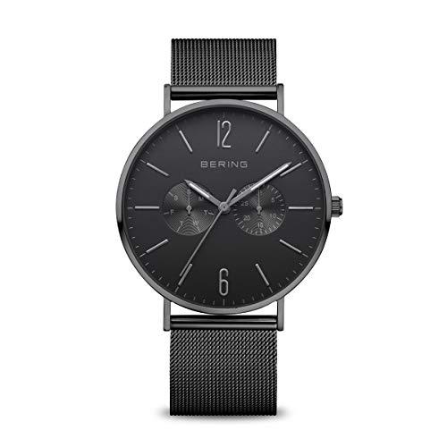 BERING Herren Analog Quarz Uhr mit Edelstahl Armband 14240-223