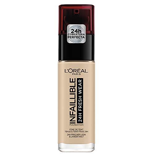 L'Oréal Paris Infaillible 24H Fresh Wear Make-up 130 True Beige, hohe Deckkraft, langanhaltend, wasserfest, atmungsaktiv, 30ml