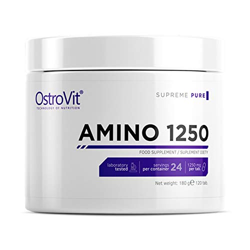 OSTROVIT Amino 1250 120 Tablets | Branched Chain Amino Acids BCAA + Essential Amino Acids EAA | Muscle Development Anabolic Pills for Muscle Mass Growth