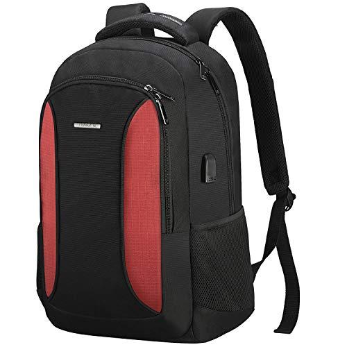 Laptop Rucksack Herren Damen,TOGORE Wasserdicht Schulrucksack Jungen Mädchen Teenager Daypack mit USB-Ladeanschluss für Business Reisen Schule Arbeit Büro für 15.6 Zoll Laptop,35L