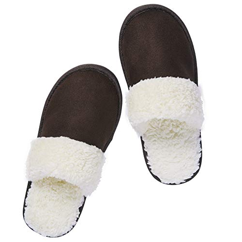 riemot Zapatillas de Estar por Casa para Mujer Hombre, Zapatos Memory Algodón Invierno Antideslizante Pantuflas, Cálidas, Ultraligero Cómodo y Suave, para Interior y Exterior, DB 42-43