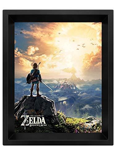 Die Legende von Zelda 'Sonnenuntergang'3D Lenticular Poster,10 x 8 inch