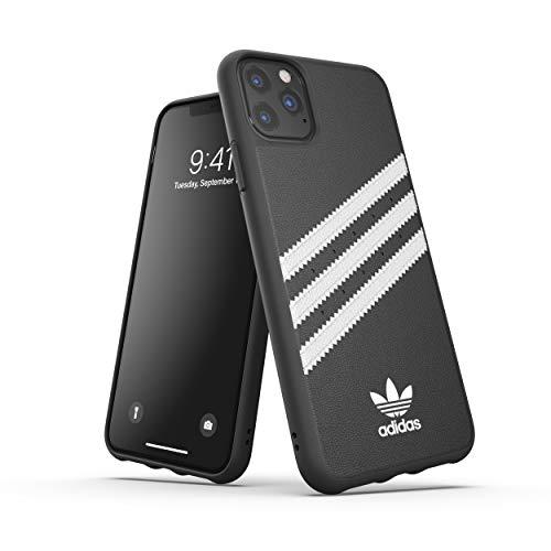 adidas Handyhülle Entwickelt für iPhone 11 Pro Max Hülle, Fallgeprüfte Hüllen, stoßfeste erhöhte Kanten, Original Schutzhülle, Schwarz & Weiß Streifen - 6.5 Zoll