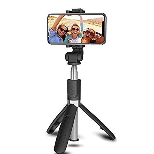 Entplg Palo para Selfies Bluetooth, artefacto de cámara Universal Allinone, Mini trípode inalámbrico, Herramientas en Tiempo Real, Selfie