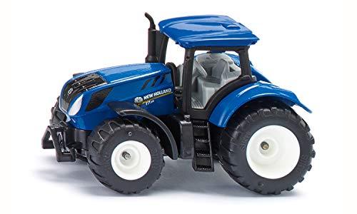 Siku 1091, New Holland T7.315 Traktor, Metall/Kunststoff, Blau, Abnehmbare Kabine und Anhängerkupplung