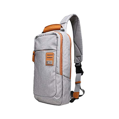Dpark New Group Series Water-resistant Canvas& PU Sling Chest Shoulder Bag Pack...