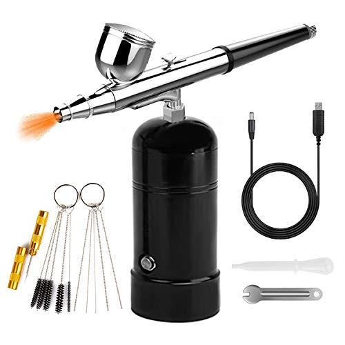 Aerógrafo mini compresor aerógrafo Set Airbrush USB Charging Kit pistola de pulverización para modelismo, pintura, uñas, pastelería, tarta en spray