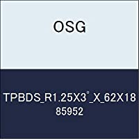 OSG テーパエンドミル TPBDS_R1.25X3゚_X_62X18 商品番号 85952