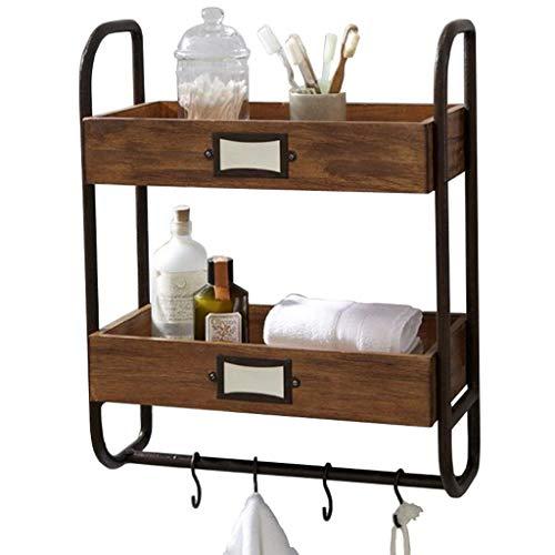Badezimmer Regal, Wandbehang Rack Amerikanischen Schmiedeeisen Bracket Shampoo Duschgel Küche Balkon Haushaltsregal Hängen Lagerregal