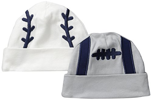 Gerber Baby Boys' 2 Pack Novelty Caps, Sports, 0-6 Months