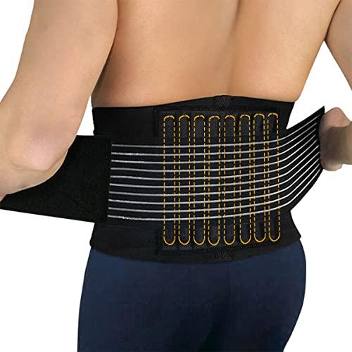 GvvcH Hombres Faja Lumbar Ortesis de Soporte de Cintura Protector de Cintura para Gimnasio Corsé Moldeador de Cuerpo Deportivo de Levantamiento de Pesas,XL