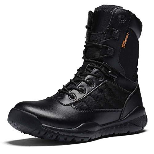 Bitiger Wasserdicht Herren Arbeitsstiefel Militärstiefel Wanderschuhe Trekkingschuhe Armee Combat Tactical Boots Outdoor Einsatzstiefel mit Zipper