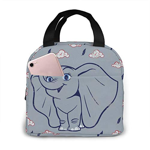 Outdoor Insulated Durable Lunch Box Cooler Box Meal Cute Dumbo Lunchbox Tote Bag For Woman Man Kids