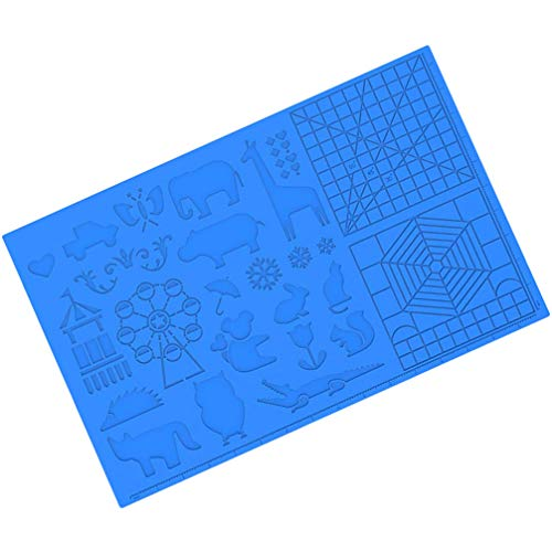 Scicalife 1 x 3D Print Design Mat Printing Pen Silicone Mat 3D Printing Pen Mat Drawing Tool Pen Silicone Mat DIY Educational Toy for 3D Beginners / Children / Adults