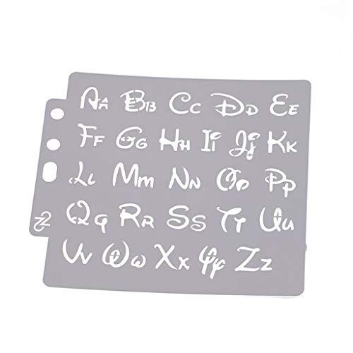 ZOOMY Alfabeto Carta Plantillas Plantilla Pintura Scrapbooking Relieve Estampado Tarjeta del Álbum DIY