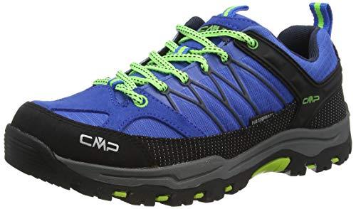 CMP – F.lli Campagnolo Kids Rigel Low Trekking Shoe WP, Zapatillas de Senderismo Unisex niños, Azul Royal Frog 94bd, 35 EU