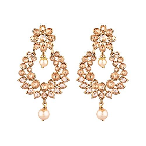 Efulgenz Indian Jewelry Bollywood - Juego de pendientes para mujer