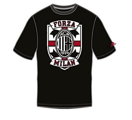adidas A.C. Milan Cross Chest Performance Black T-Shirt Large