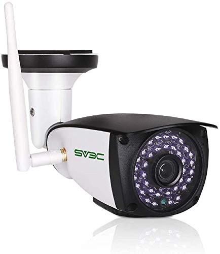 SV3C HD 5MP Videocamere di Sorveglianza Esterno Wi-Fi Telecamera IP con Rilevamento del Movimento, Audio Bidirezionale, Visione Notturna, IP66, Vista a Distanza Via Phone/Tablet/Windows