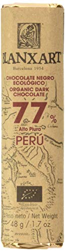Blanxart Chocolatina de Chocolate Negro Ecológico - Perú 77% Cacao 1 Unidad 48 g