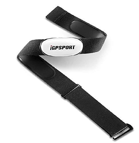 IGPSPORT sans Fil Cardiofréquencemètres capteur HR40 pour Tracker de Conditionnement Physique, Support Bluetooth et Ant + et Compatible avec Garmin Polar Wahoo (Doux Ceintures pectorales)