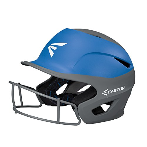 EASTON PROWESS Fastpitch Softball Batting Helmet with Mask | Small / Medium | Matte Black / White | 2020 | Multi-Density Impact Absorption Foam | High Impact Lightweight Shell | BioDRI Liner
