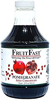 100% Pure Pomegranate Juice Concentrate by FruitFast - Unsweetened, Non-GMO, Gluten and BPA Free, Kosher Certified Fruit J...
