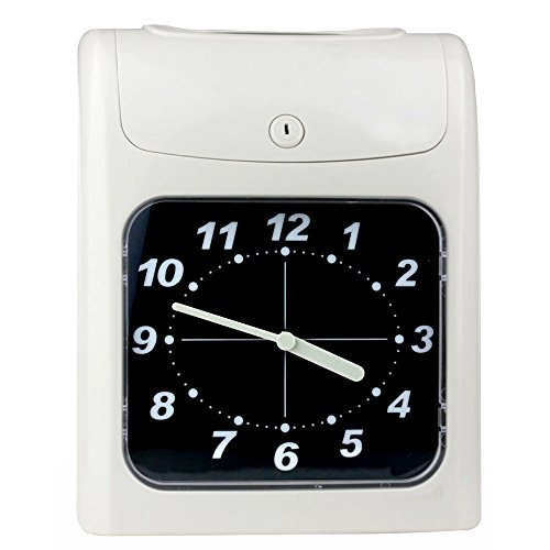 HONEY BEAR Reloj de fichar manual con fichaje automático. Incluye 50 tarjetas
