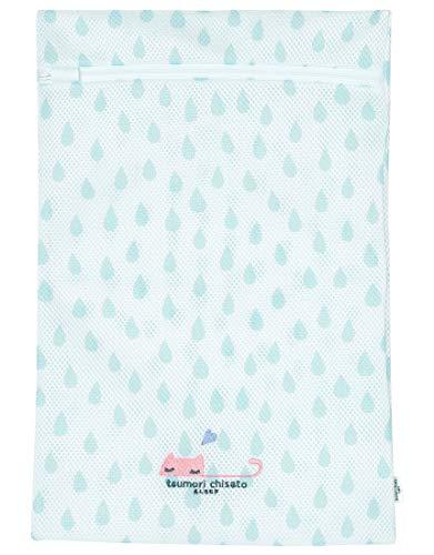 Wacoal ワコール tsumori chisato sleep ツモリチサトスリープ ランドリーケース 洗濯 ネット ネコ しずく柄 ワンポイント刺繍 旅行に UEX513 サックス(SX) M