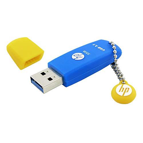 32GB USB 3.1 USB-Stick Gummi-Material blau - HPFD788B-32P