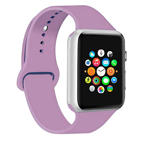 CoJerk Compatible for Apple Watch Band 38mm 40mm 42mm 44mm,Replacement Band for iWatch Series 5/4/3/2/1 (Lavender, 38mm/40mm-sm)