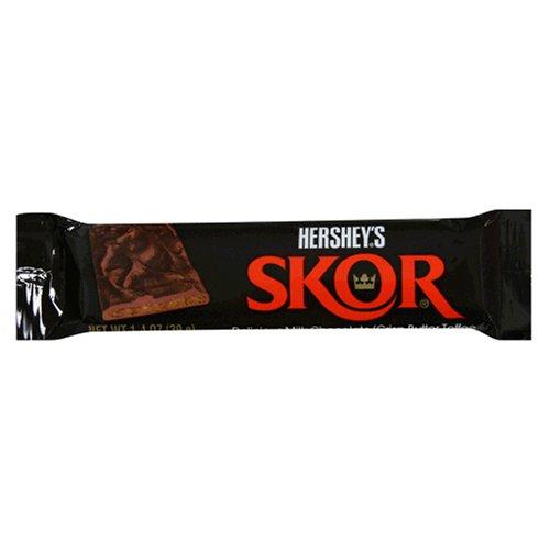 Skor Bar, Milk Chocolate Crisp Butter Toffee, 1.4-Ounce Bars (Pack of 36)