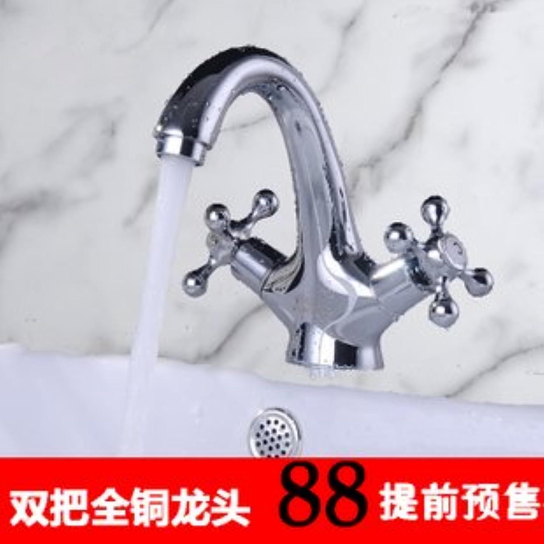 ETERNAL QUALITY Badezimmer Waschbecken Wasserhahn Messing Hahn Waschraum Mischer Mischbatterie Die vollstndige Kupfer doppel Waschbecken kaltes Wasser Wasser Mischventil
